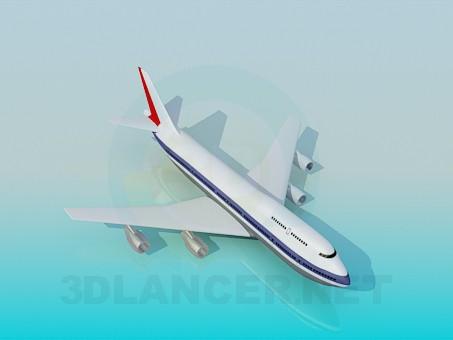 modelo 3D Aviones de pasajeros - escuchar