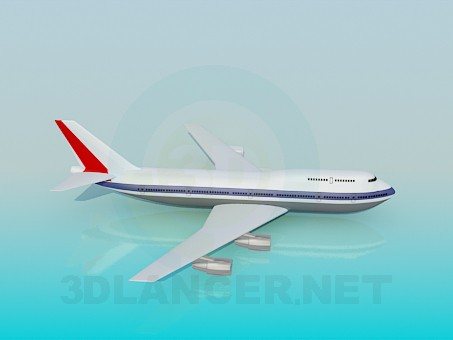 3d model Passenger aircraft - preview