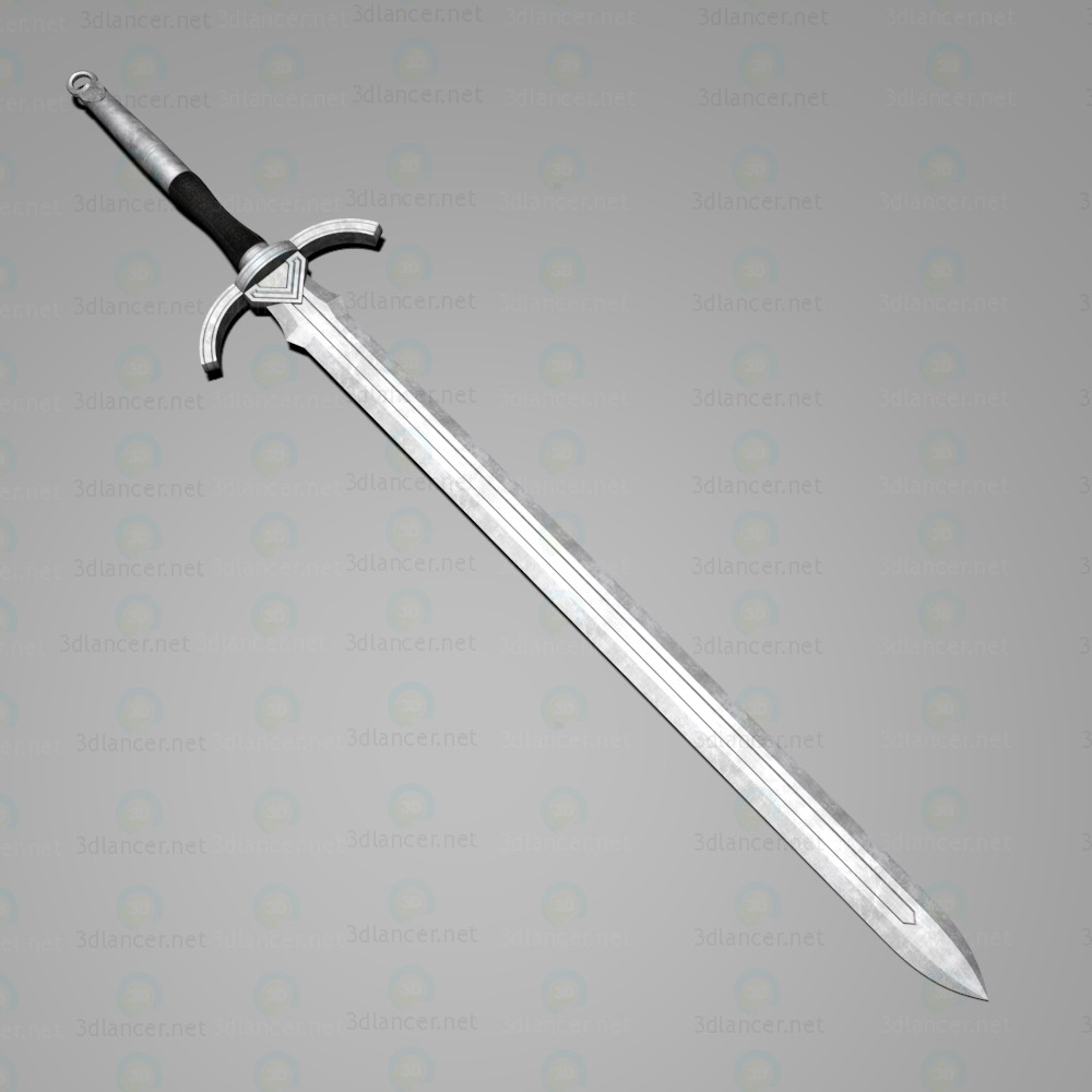 "3d  Long Sword ""Righteous""  model buy - render"