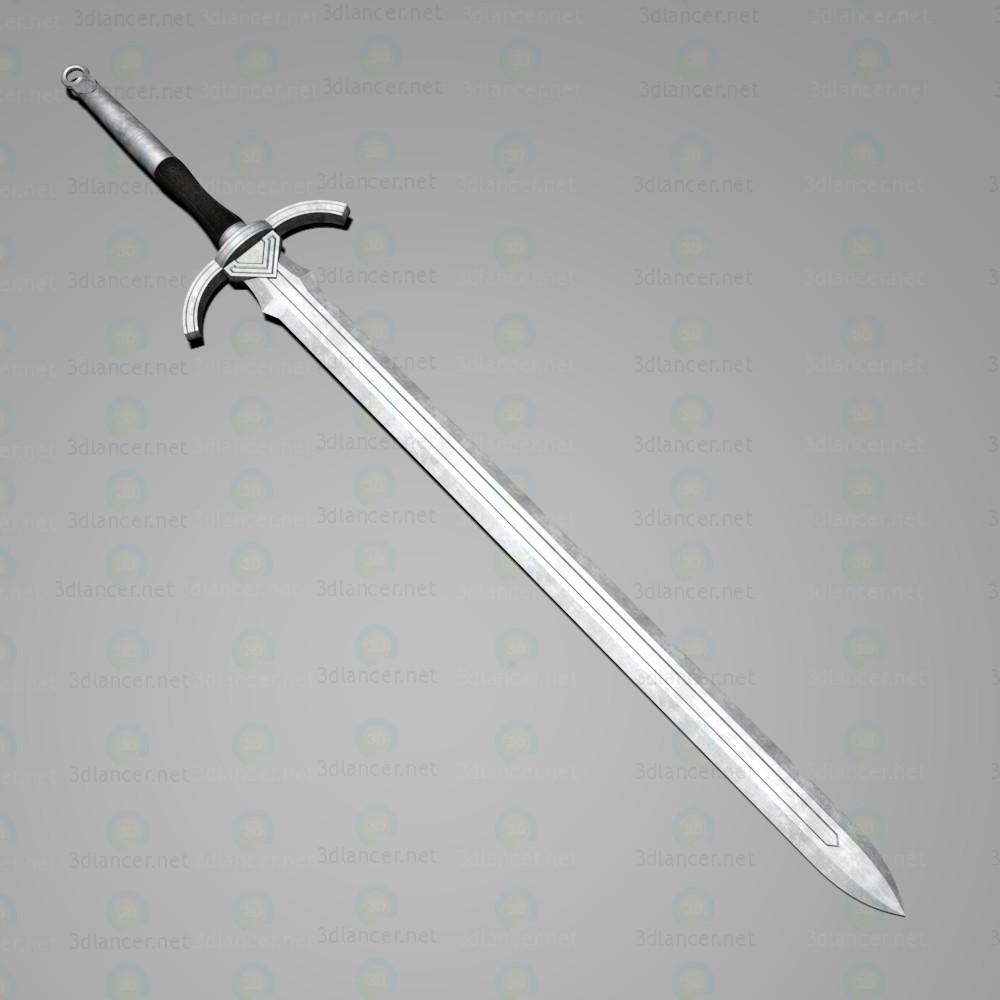 """3d Довгий меч """"Праведний"""" модель купити - зображення"""