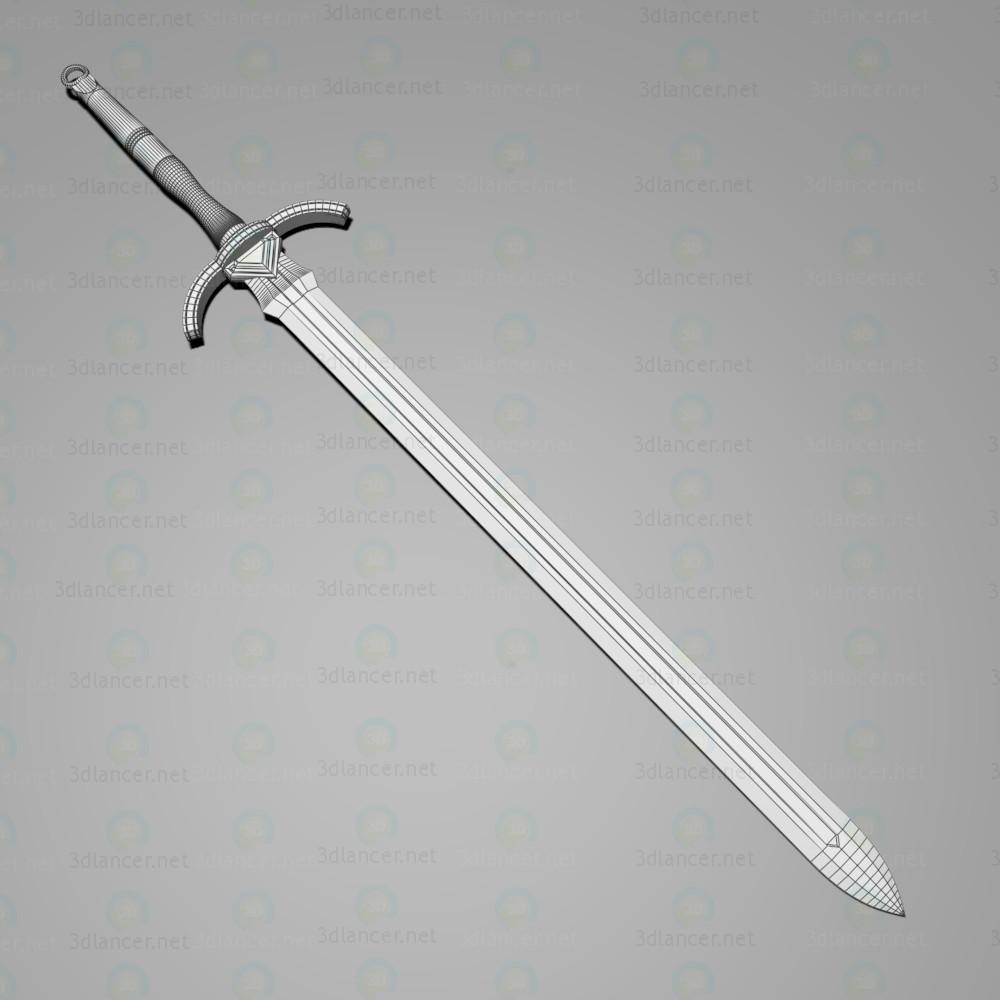 """Espada larga """"Justos"""" 3D modelo Compro - render"""
