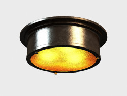 INDUSTRIAL ROUND FLUSH ceiling MOUNT (CH034-3-ABG)