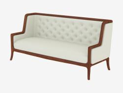 Leather classic sofa (art. JSL 3711b)