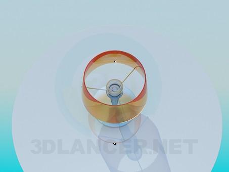 3d модель Круглый стол с настольной лампой – превью