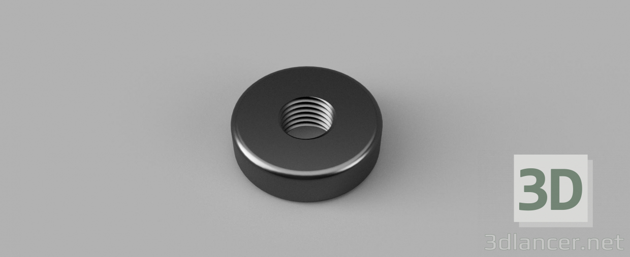 3d model Cylindrical nut - preview