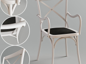 Cross Back Dining Chair With Arms