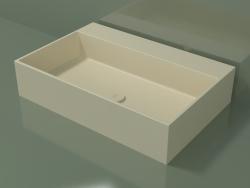 Countertop washbasin (01UN41302, Bone C39, L 72, P 48, H 16 cm)