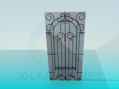 3d модель Дверь кованая – превью