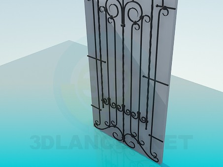 3d model Forged door - preview