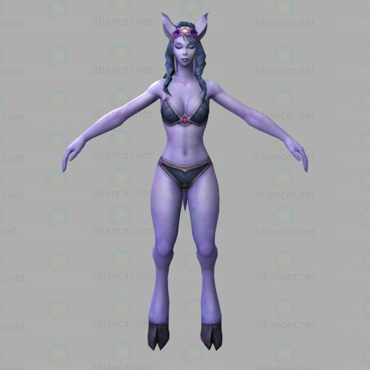 3d model Wow-draenei - preview