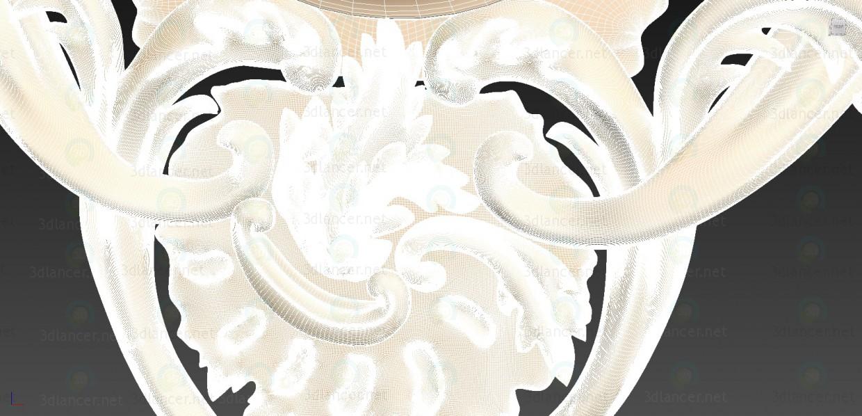 3d Рама для часов модель купить - ракурс