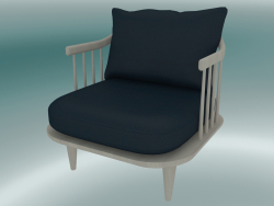 Armchair Fly (SC10, 70х73 Н 70 cm, White oiled oak with Harald 2 182)