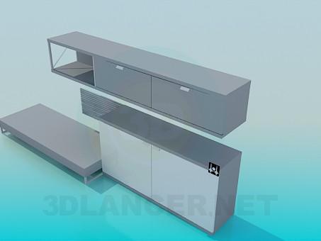 Mod le 3d meuble t l viseur t l charger for Meuble 3d