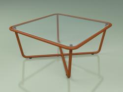 Coffee table 001 (Ribbed Glass, Metal Rust)