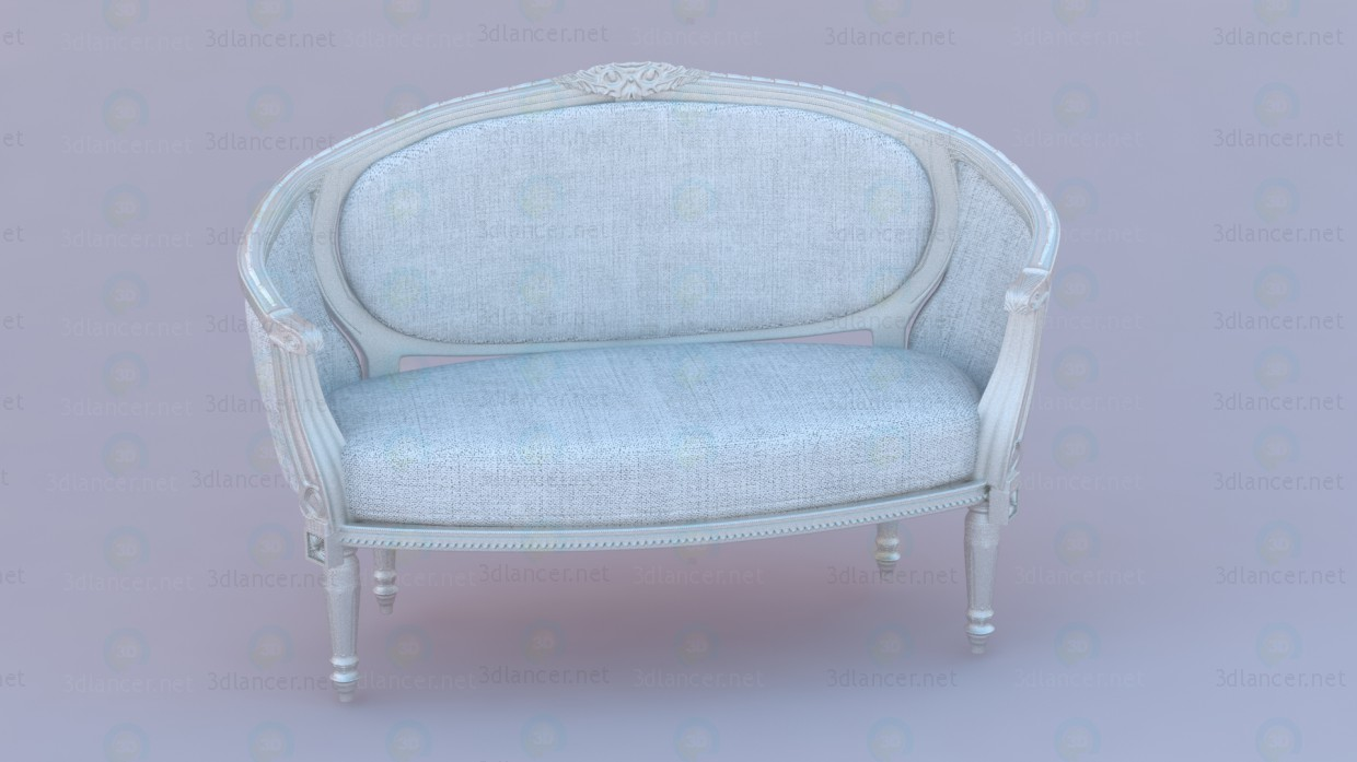 Sofa in classic European design paid 3d model by Грек preview