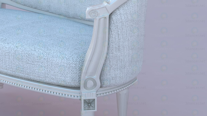 3d Софа в классическом европейском дизайне модель купить - ракурс