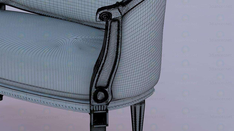 Sofá en el diseño clásico europeo 3D modelo Compro - render