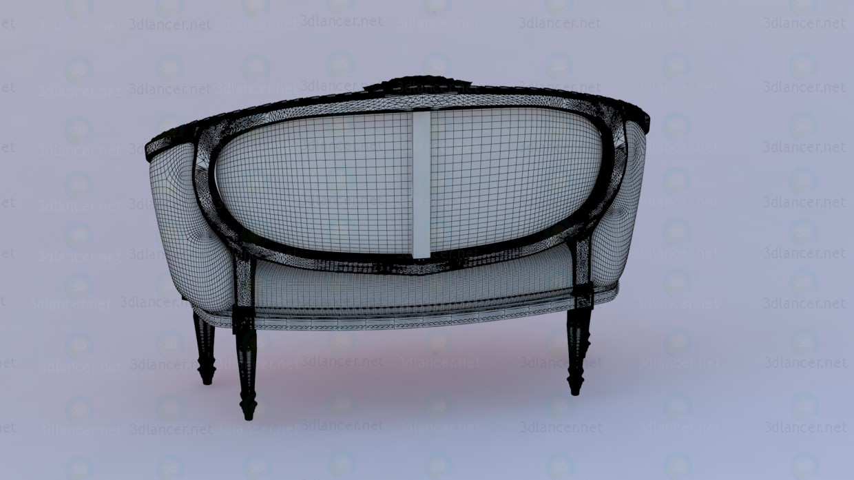 3d Sofa in classic European design model buy - render