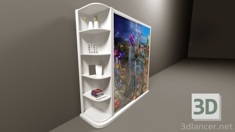 3d модель Детский Шкаф – превью