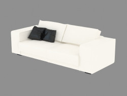 Sofá doble recta