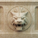 3d Lion head on a bas-relief model buy - render