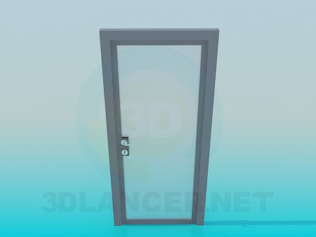 3d model Transparent matt door - preview