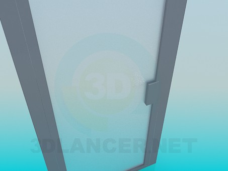 3d модель Прозора матова двері – превью
