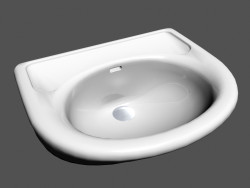 Sink Semi-recessed console l swing r1 810411