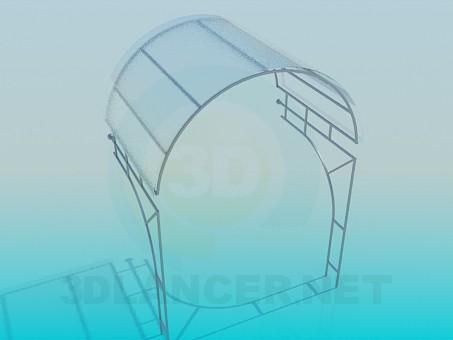 descarga gratuita de 3D modelado modelo Pabellón de cristal