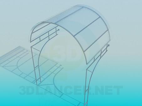 3d модель Навес из стекла – превью