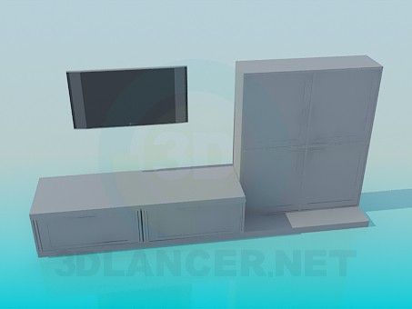 descarga gratuita de 3D modelado modelo Muebles de la sala