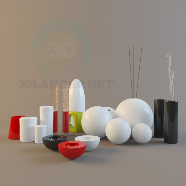 3d model modern vases - preview