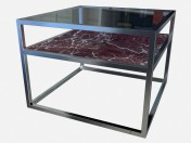 Square coffee table with extra shelf Carmen Z03