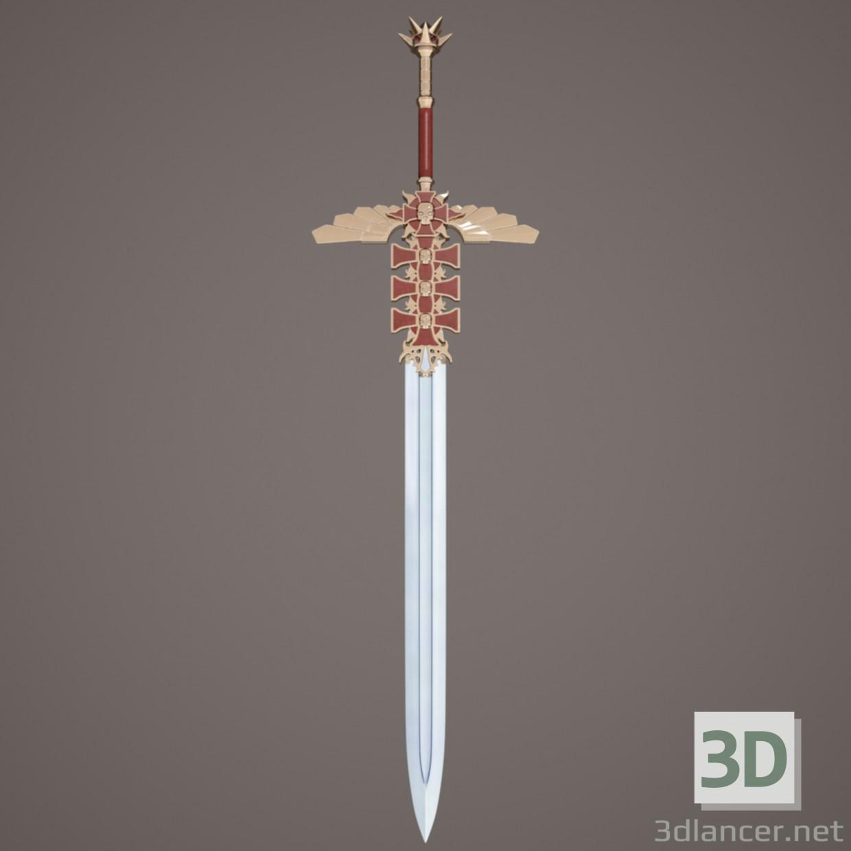 меч фентезі 3d модель купити - рендер
