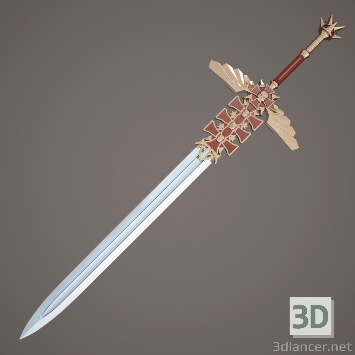 3d Fantasy sword model buy - render