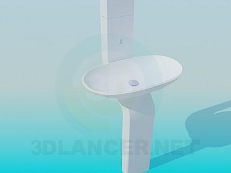 descarga gratuita de 3D modelado modelo lavabo de colada