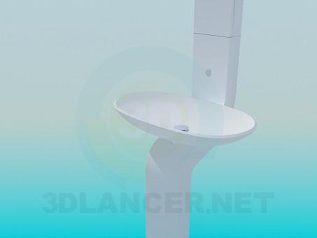 3d model wash basin - preview