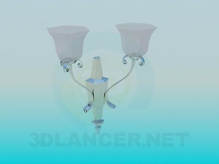 modelo 3D Lámpara de pared con pinturas en el techo helado - escuchar