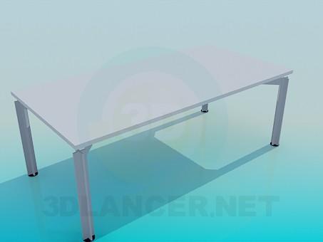 3d модель Прямокутний стіл для офісу – превью