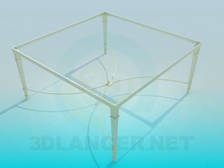 3d модель Стеклянный стол – превью