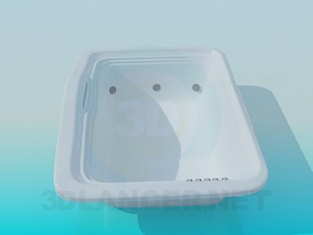 3d modeling Large bath model free download