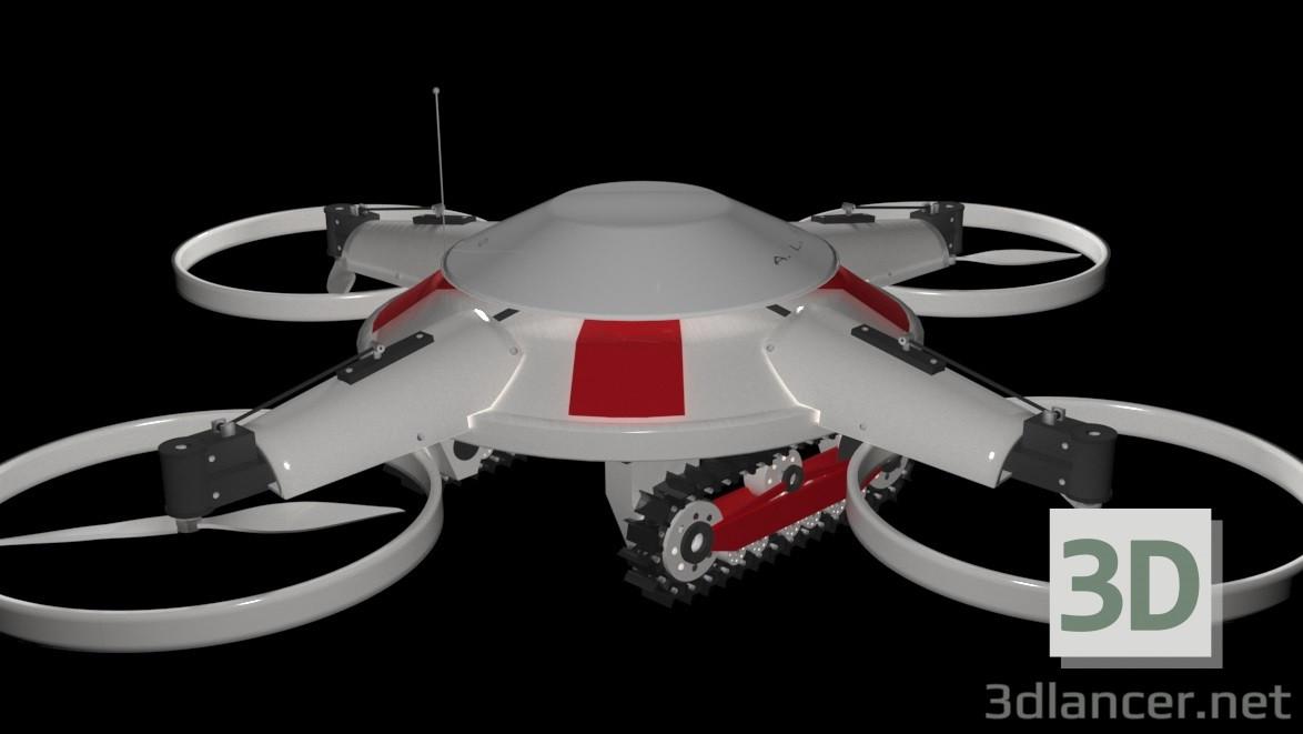 3 डी मॉडल Dron - पूर्वावलोकन