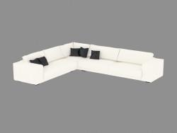 divano ad angolo modulare