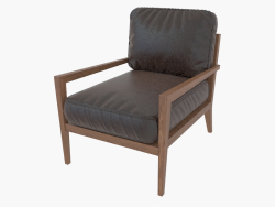 Chaise Kyrie Modern Fauteuil angulaire en cuir marron classique
