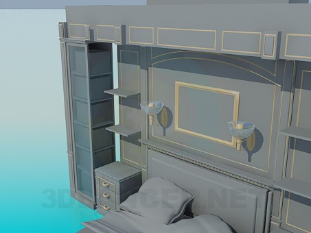 3d model The furniture in the room tallow - preview