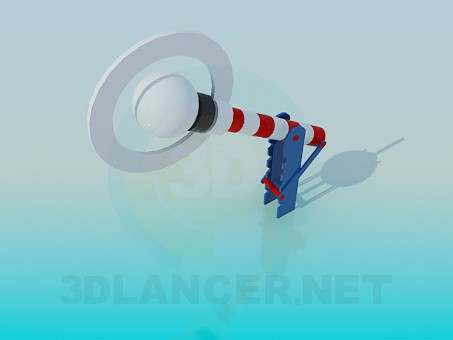 3d модель Игрушечный шлагбаум – превью