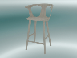Tabouret de bar In Between (SK7, H 92cm, 58x54cm, Chêne huilé blanc)