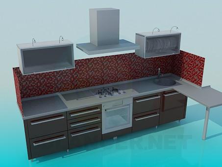 3d modeling Kitchen furniture model free download