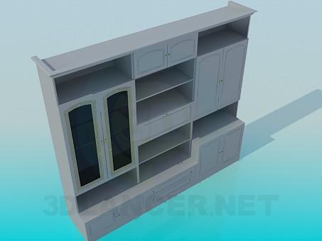 modelo 3D Muebles en la sala de estar - escuchar