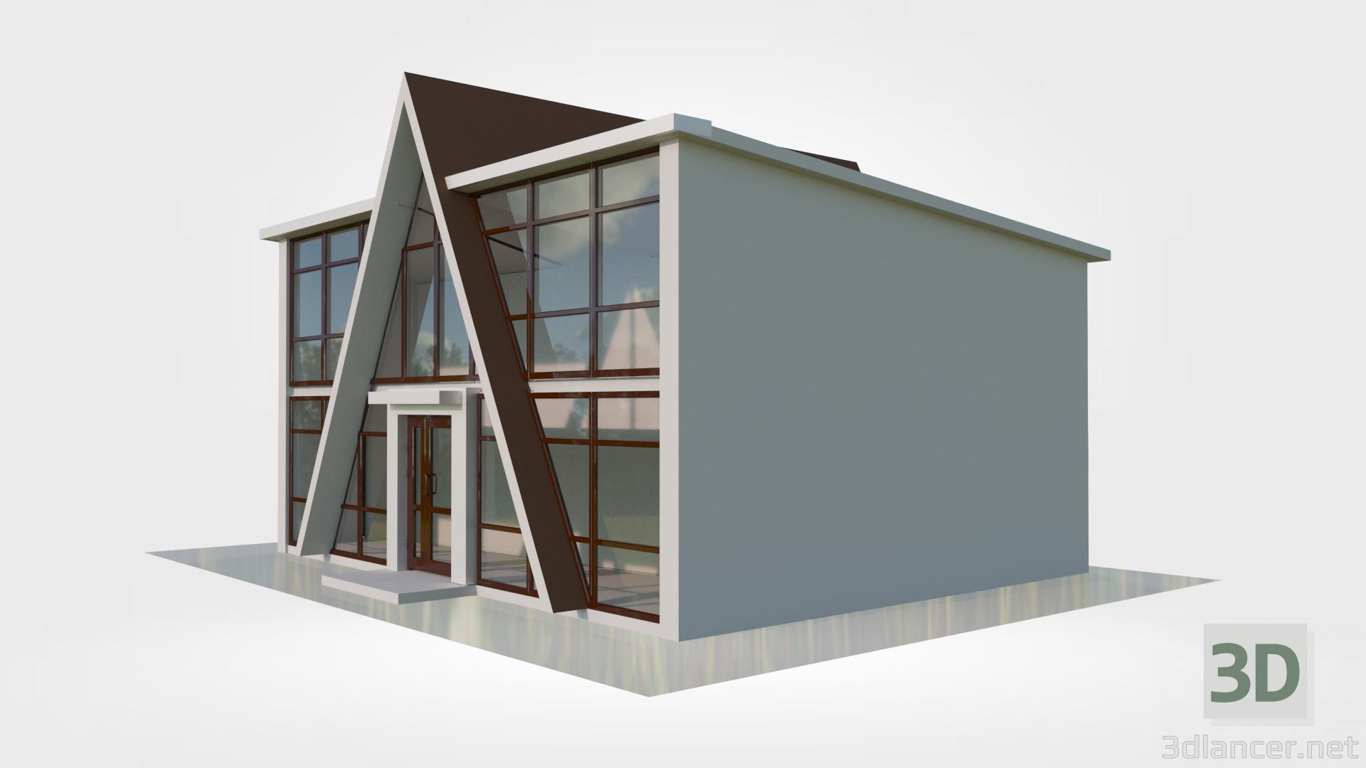 "3d Trade pavilion ""Yugra"" model buy - render"